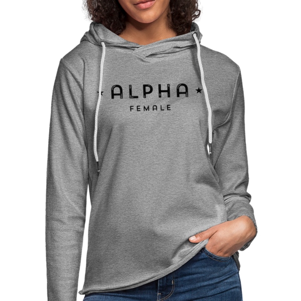 Alpha Female Terry Hoodie - heather gray
