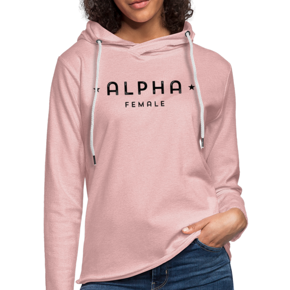 Alpha Female Terry Hoodie - cream heather pink