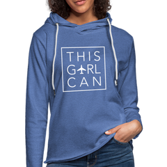 This Girl Can Terry Hoodie - heather Blue