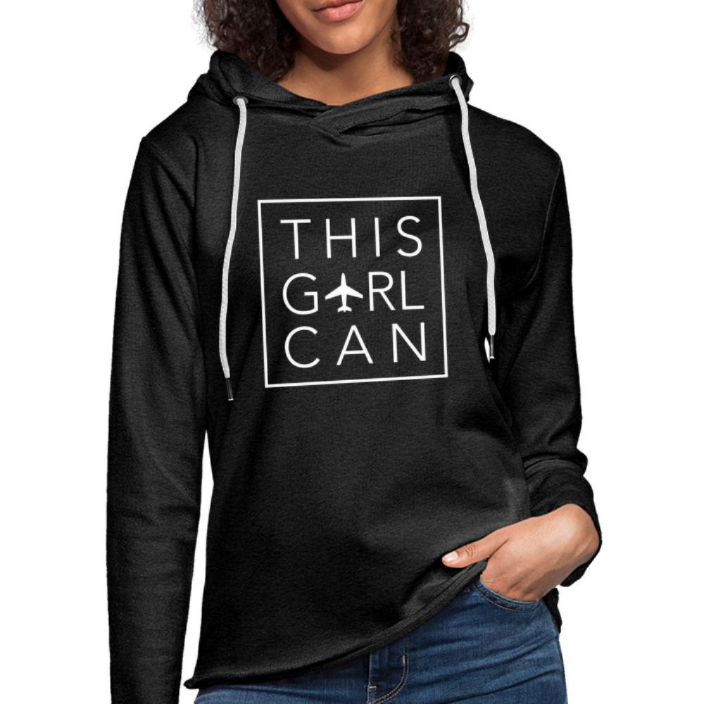 This Girl Can Terry Hoodie - charcoal gray