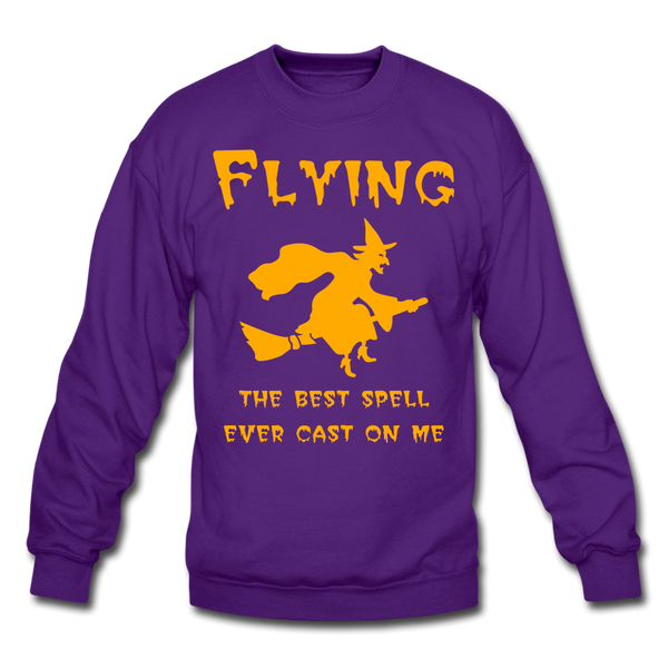 Flying Spell Sweatshirt - purple