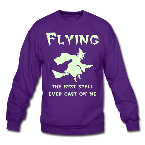 Flying Spell - Glow in the Dark Sweatshirt - navy