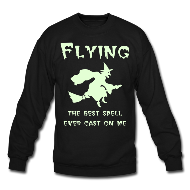Flying Spell Unisex Sweatshirt - Glow in the Dark