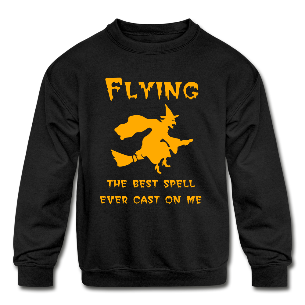 Flying Spell Kids Sweatshirt - black