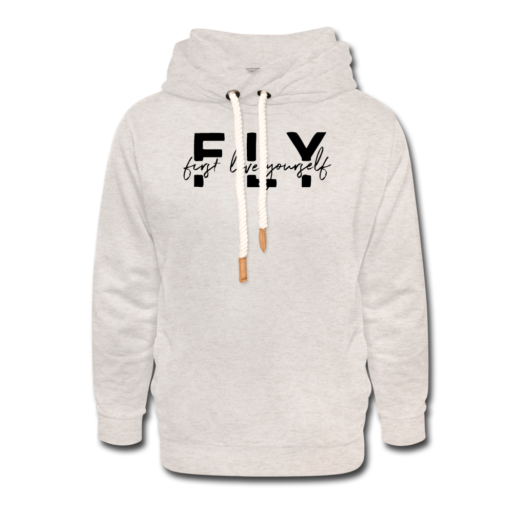 FLY Hoodie - heather oatmeal
