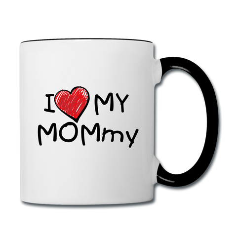 Mommy mug - white/black