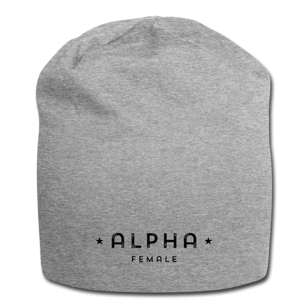 Alpha Female Beanie - heather gray