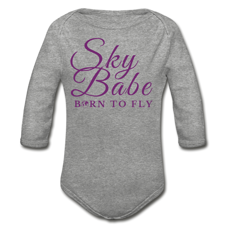 Sky Babe - Organic Cotton Long-sleeve Onesie