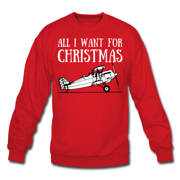 All I Want For Christmas Sweatshirt - red