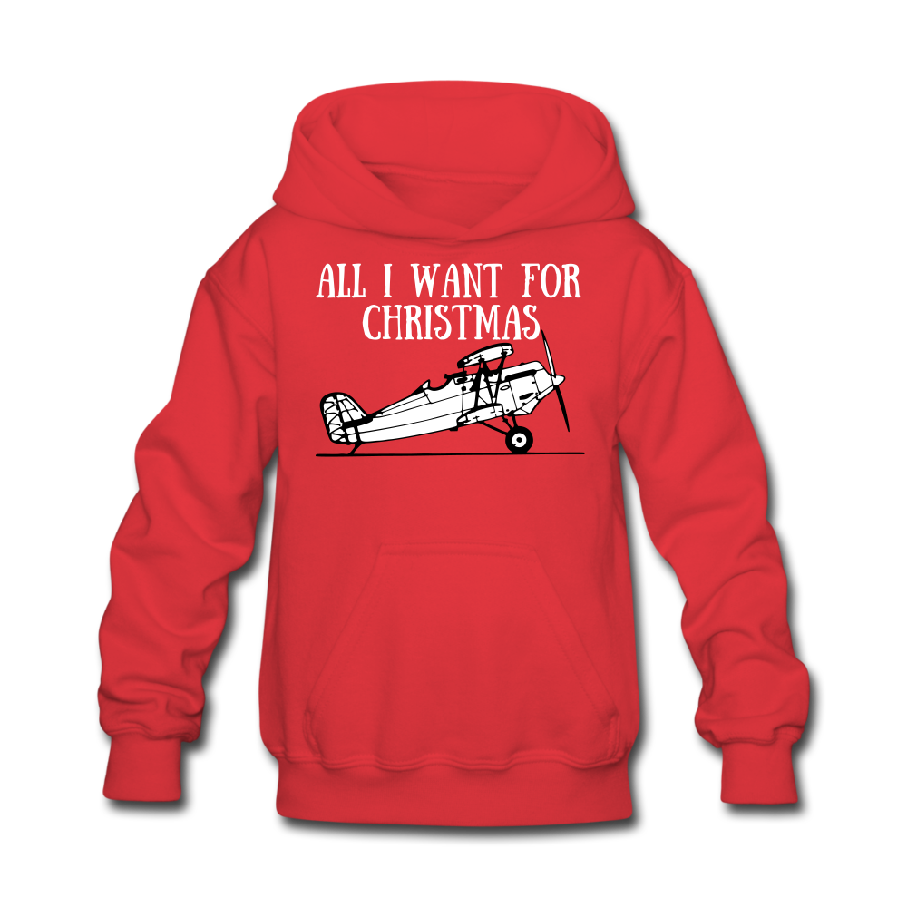 All I Want for Christmas Kids' Hoodie - red