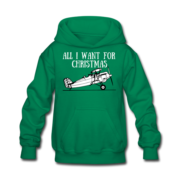 All I Want for Christmas Kids' Hoodie - kelly green
