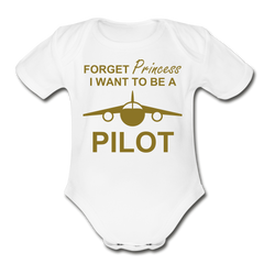 I Want to be a Pilot Onesie - white
