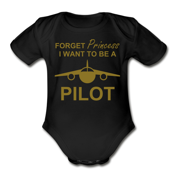 I Want to be a Pilot Onesie - black