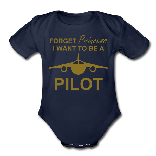 I Want to be a Pilot Onesie - dark navy