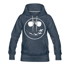 Smile Women's Hoodie - heather denim
