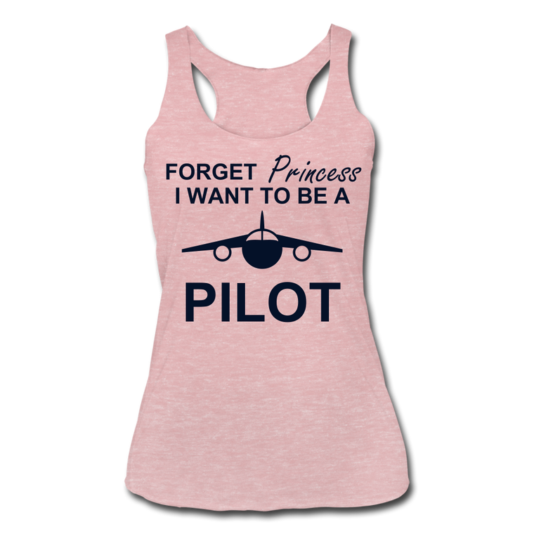 I Want to be a Pilot Racerback Tank