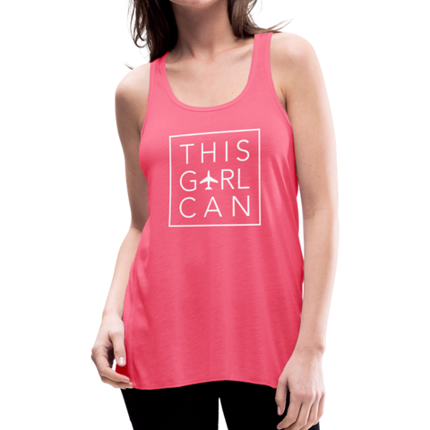 This Girl Can Flowy Tank Top - black