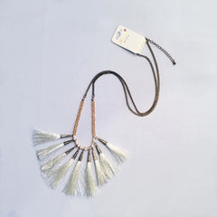 Necklace - White Tassels