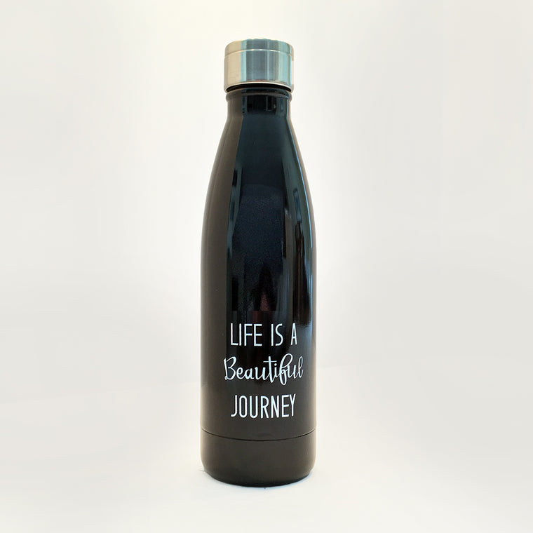 Water Bottle - Life Is A Beautiful Journey 17 Oz