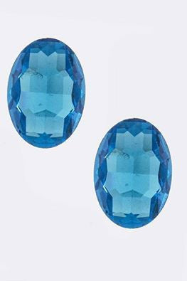 M.H.W. ACCESSORIES TURQUOISE BLUE TEAR DROP EARRINGS