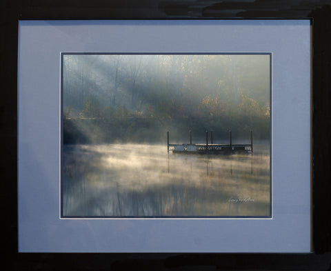 "Photograph - Durant Nature Preserve Misty Sun Rise - 11"" x 14"" Framed Print"