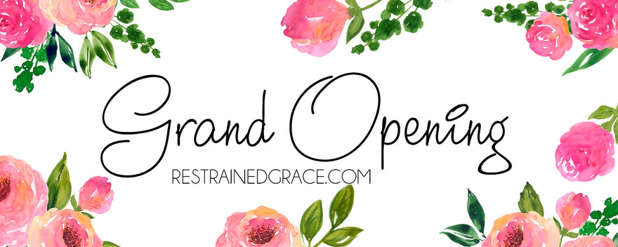 Welcome to the new RestrainedGrace.com!
