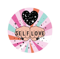 Self Love Illustrated Vinyl Sticker in Cosmic Pastels