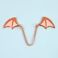 Demon Wings Pin - Rose Gold and Pink