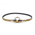 Restrained Grace Collar Cheetah Print Delicate Ring of O Collar