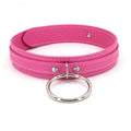 Restrained Grace Collar Silver The Deluxe Collar in Flamingo Pink