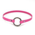 Restrained Grace Collar Silver The Elegant Ring of O Mini Collar in Flamingo Pink