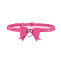 Restrained Grace Collar Silver The Pretty Princess Mini Collar in Flamingo Pink