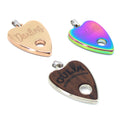 Restrained Grace Collar Tag Steel & Wood Ouija Planchette Collar Tag