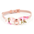 Restrained Grace Collar The Darling Colleen Floral Bow Mini Collar in Blush Pink & Rose Gold