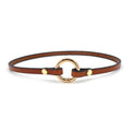 Restrained Grace Collar Tobacco Brown Delicate Ring of O Collar