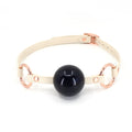 Restrained Grace Gag The Deluxe Ball Gag in Cream & Rose Gold