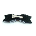 Restrained Grace Hair Bow Black with White Polka Dots Hair Bow