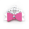 Restrained Grace Hair Bow Flamingo Pink Leather Princess Hair Bow