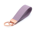 Restrained Grace Key Chain Rose Gold The Leather Strap Keychain in Lavender