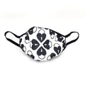 Restrained Grace Mask Signature Heart Lock Quilted Face Mask in Black and White