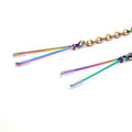 Restrained Grace Nipple Clamps The Ring of O Nipple Clamps in Iridescent Rainbow