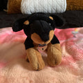 Restrained Grace Stuffie Rottweiler Puppy Mini Bondage Stuffie with Custom Collar or Harness