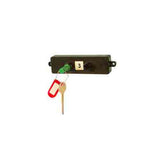 KEYper mechanical single unit key system with green key plug, red tamper seal and key
