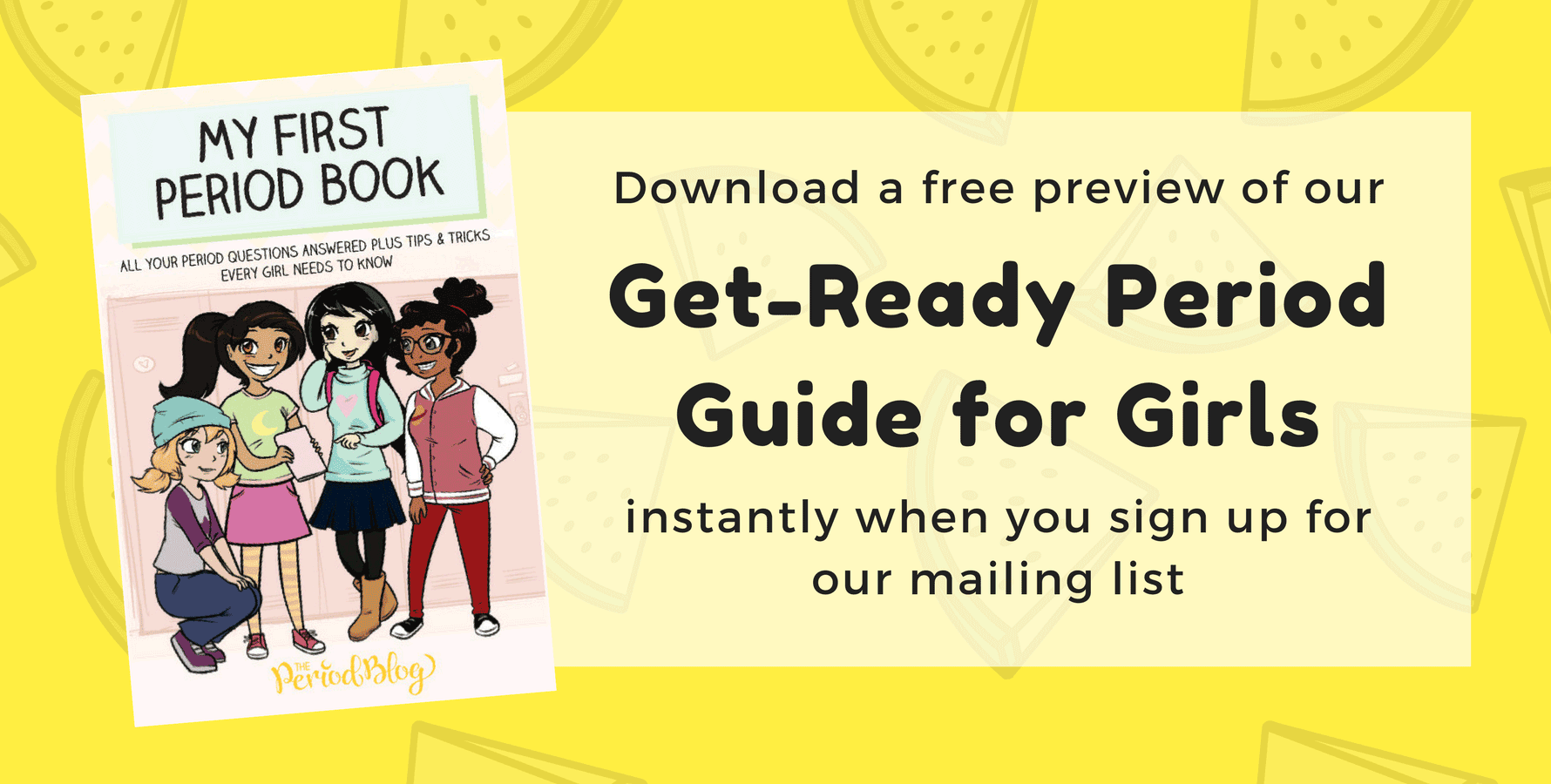 download a free preview of get ready period guide for girls