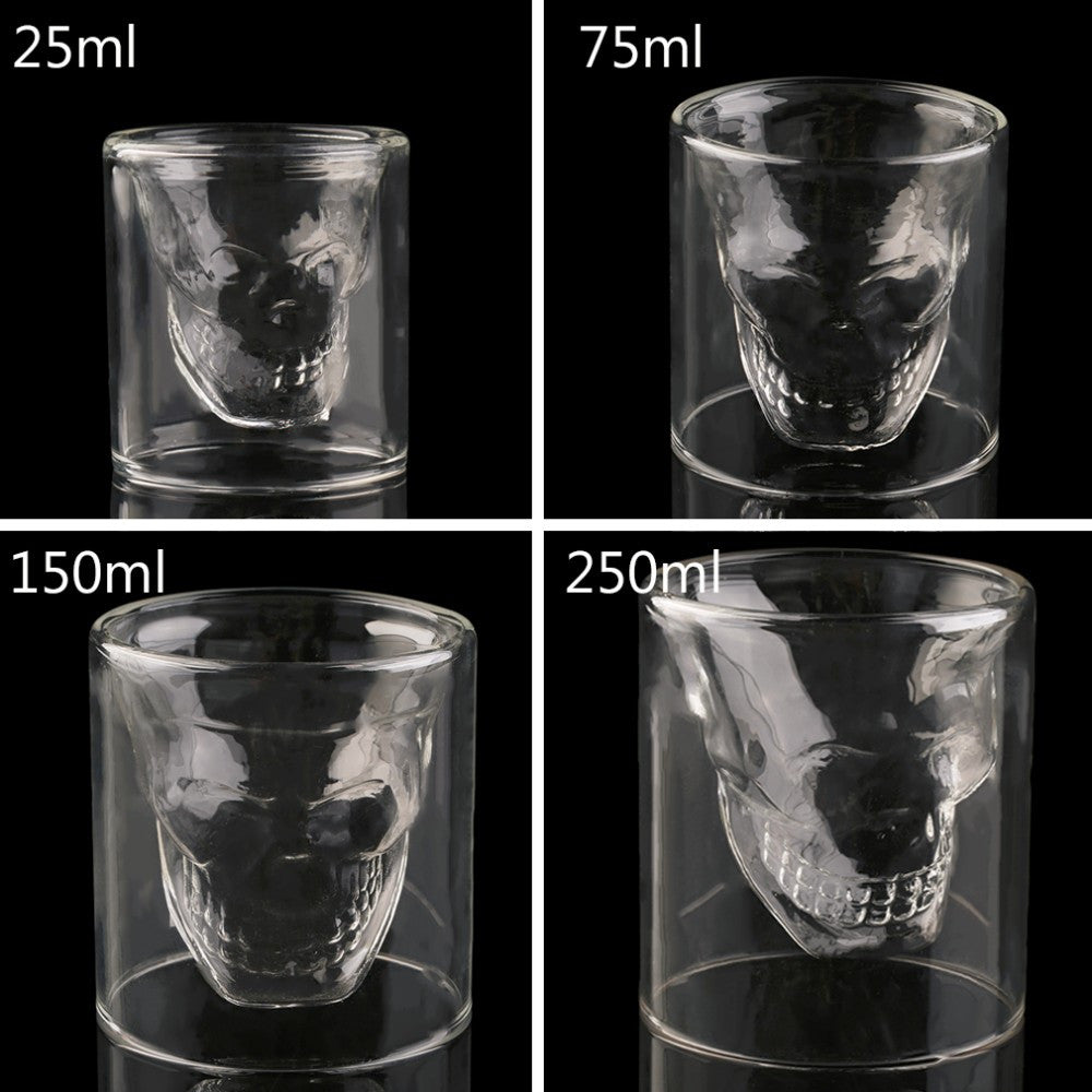 1 pc Skull Glass Head Vodka Shot Wine Cup