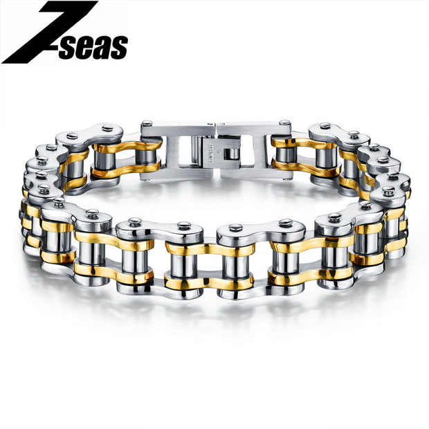 Cool Men Motorcycle Chain Bracelets Stainless Steel