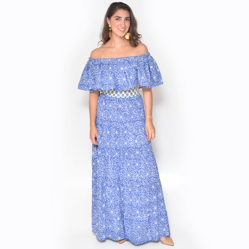 Ana Dress - Blue Tile