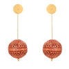 ZINDAGI Anjana scarlet earrings