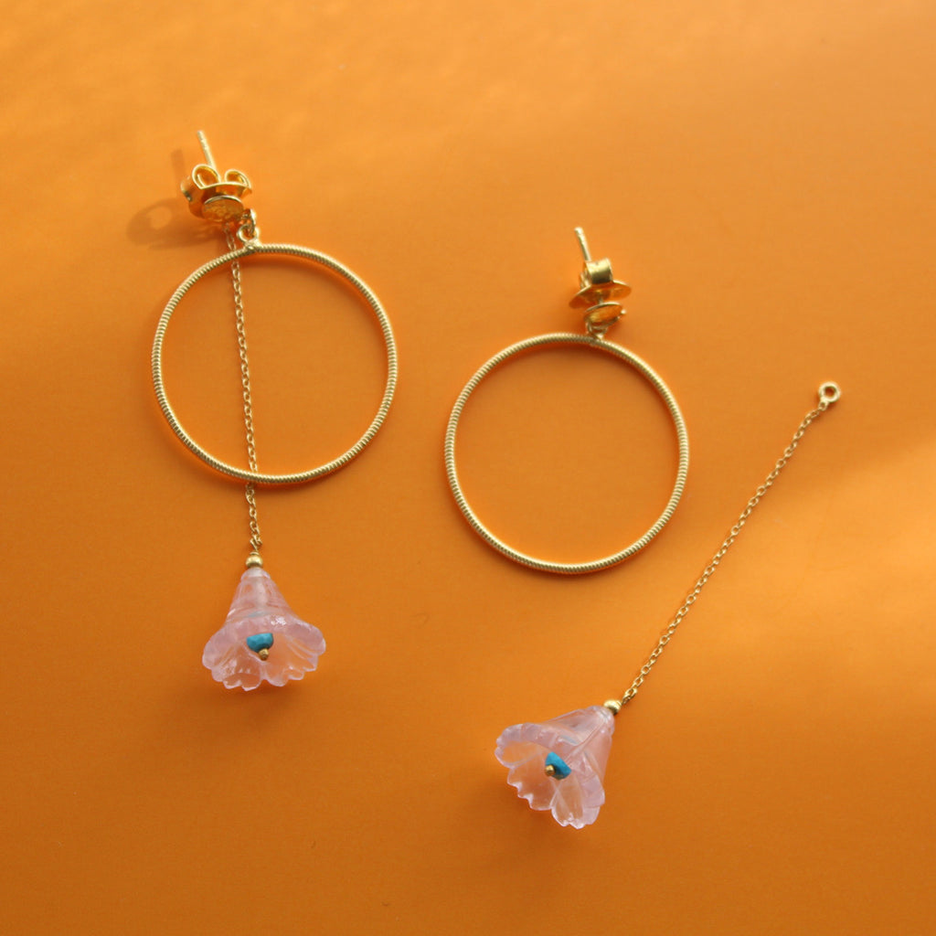 Chotu Laboni Hoops | Rose Quartz