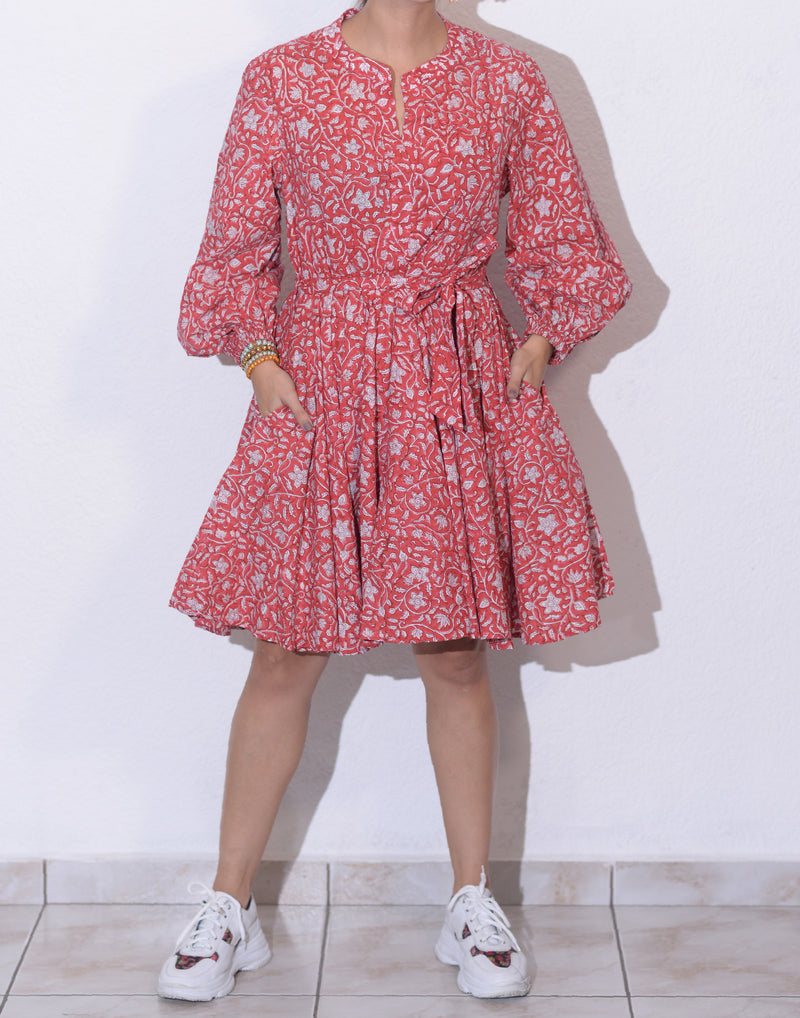 Evleena Dress | Red